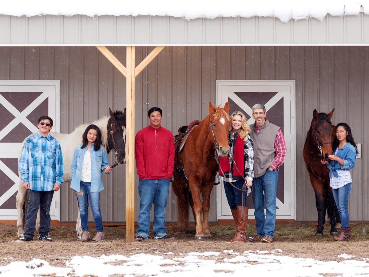 Kelly and John Rosati and family